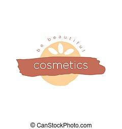 logo, abstrakcyjny, wektor, kosmetyki, piękno