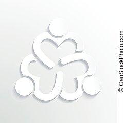 logo, biały, projektować, handlowy, etykieta