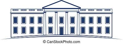 logo, biały, wektor, dom