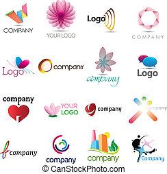 logo, bogaty, zbiór