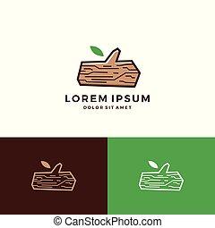 logo, drewno, drzewo, graty, budulec