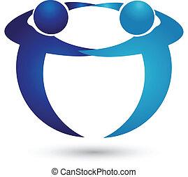 logo, drużyna, ludzie handlowe