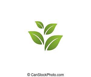 logo, ekologia, -, ilustracja, vectors