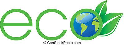 logo, ekologia, zielony