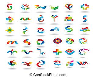 logo, elementy, projektować