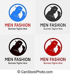 logo, fason, człowiek
