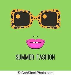 logo, fason, sunglasses