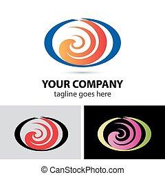 logo, formułować, spirala, abstrakcyjny, ikona