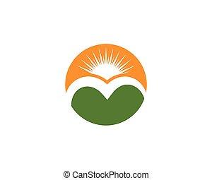 logo, góra, ikona, handlowy