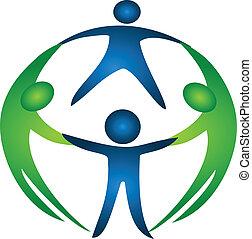 logo, grupa, drużyna