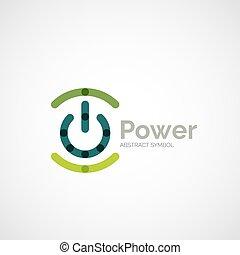 logo, guzik, projektować, moc