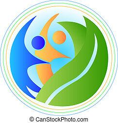 logo, harmonia, ludzie