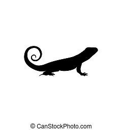 logo, jaszczurka, ikona, symbolika, wektor, szablon