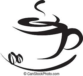 logo, kawa