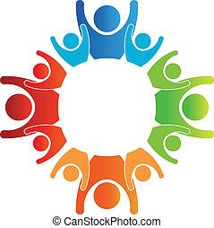 logo, koło, rodziny