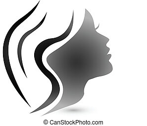 logo, kobieta, fason, czuciowy