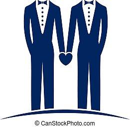 logo, małżeństwo, tak samo, płeć