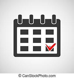 logo, mark., kalendarz, czek