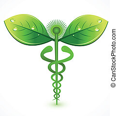 logo, medyczny, kasownik, symbol