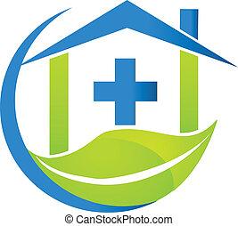 logo, medyczny symbol, handlowy, natura
