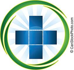 logo, medyczny, wektor, symbol, ikona