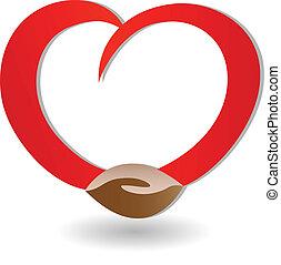 logo, miłość, uzgadnianie