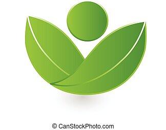 logo, natura, wektor, zdrowie