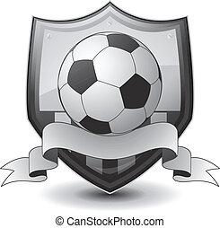 logo, piłka nożna, emblemat