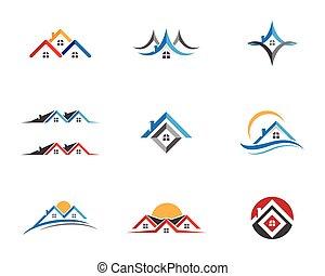 logo, posiadanie, szablon