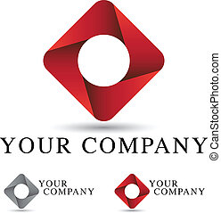 logo, projektować, zbiorowy