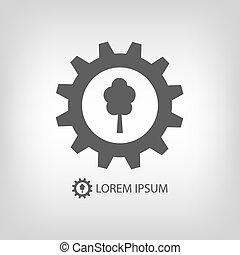 logo, przemysł, drewno