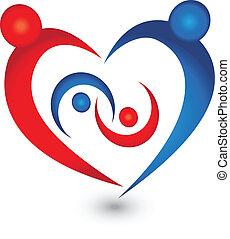 logo, rodzina, wektor, symbol