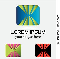 logo, skwer, abstrac, prostokątny