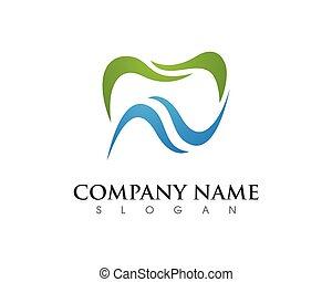 logo, stomatologiczny, szablon