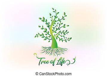 logo, symbol, ekologia, drzewo, liście