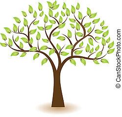 logo, symbol, wektor, drzewo