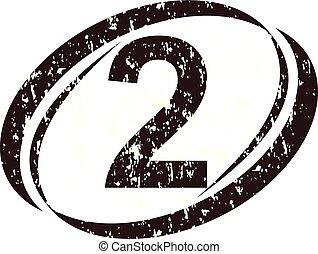logo, szorstki, 2, liczba