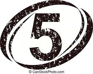 logo, szorstki, 5, liczba