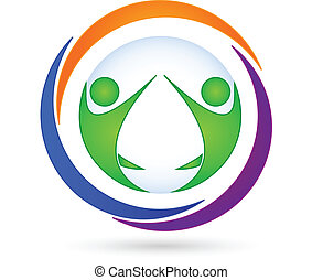 logo, teamwork, handlowa karta