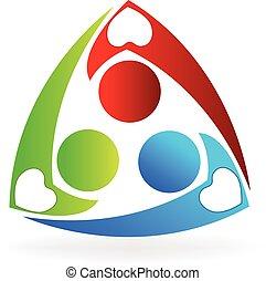 logo, teamwork, miłosierdzie