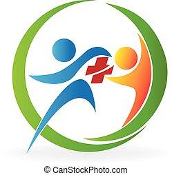 logo, teamwork, sanitarna troska