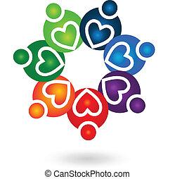 logo, teamwork, solidarność, ludzie