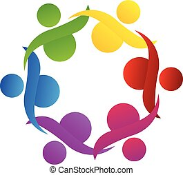 logo, teamwork, współposiadanie, pomoc