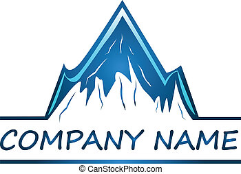 logo, towarzystwo, wektor, góry