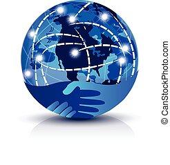 logo, uzgodnienie, globalny, internet