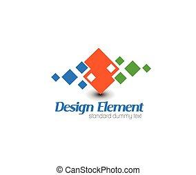 logo, wektor, abstrakcyjny