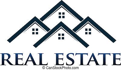 logo, wektor, apartamenty, desig, domy