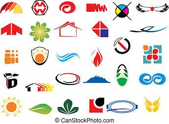 logo, wektor, elementy