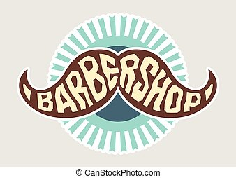 logo, wektor, fryzjer