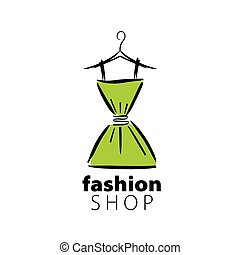 logo, wektor, odzież